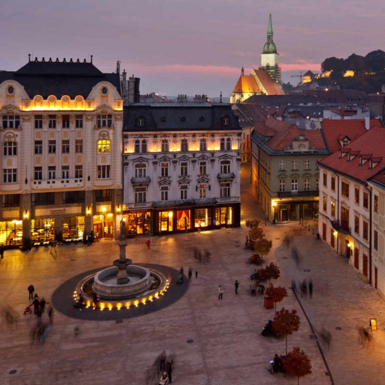 Old city center in Bratislava